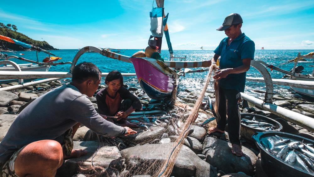 Bali, fishing boat, fishing village, traditional fishermen,