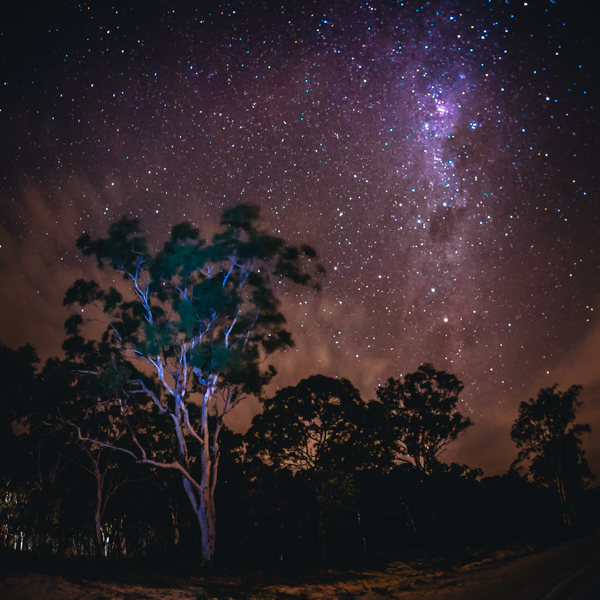 Milky Way, stars, Moreton Island, Brisbane, Queensland,