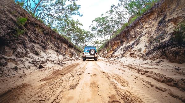 Nissan Patrol 4WD, Moreton Island, Queensland, Australia