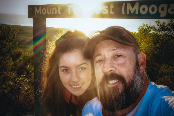 Selfie, Sunrise, Mount Tempest, Moreton Island, Brisbane, Queensland