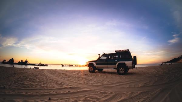 4WD, The Wrecks, Moreton Island, Brisbane, Queensland