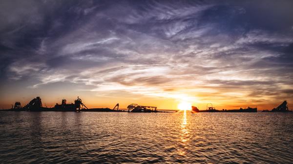 Sunset, Tangalooma, The Wrecks, Moreton Island